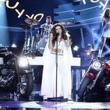 Mimi Doblas imita a Thalia en la gala 2 de 'Tu cara me suena'