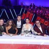 El jurado de 'Tu cara me suena 7' y Manel Fuentes en la Gala 3