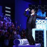 Jordi Coll sobre el sofá de 'Tu cara me suena 7' en la Gala 3