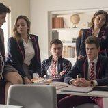 Alumnos de Las Encinas, instituto en el que se desarrolla 'Élite'