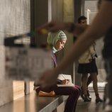 Mina El Hammani en el rodaje de la primera temporada de 'Élite'