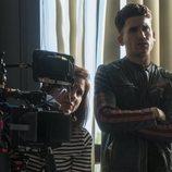 Jaime Lorente en el rodaje de la primera temporada de 'Élite'