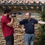 Carlos Areces en el rodaje de 'El pueblo'