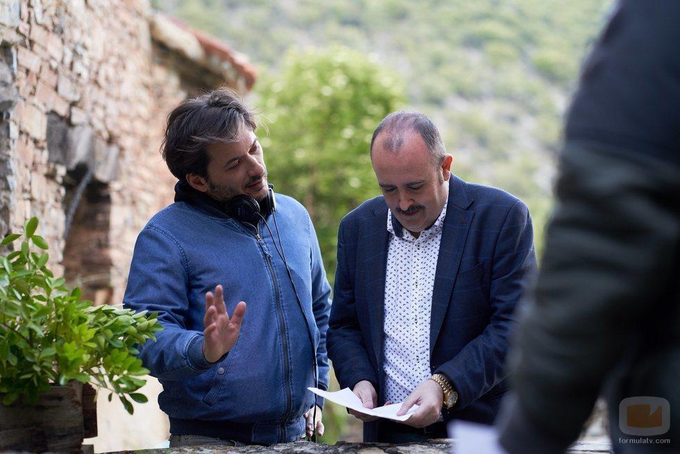 Carlos Areces, uno de los protagonistas de 'El pueblo', ensaya con Alberto Caballero