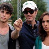 David Solans, Álvaro Ron y Laura Moray en la serie 'La caza. Monteperdido'