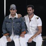 Omar Montes y Asraf Beno en la sala de expulsión en la Gala 5 de 'GH VIP 6'