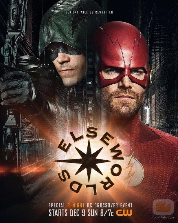 """Primer póster de """"Elseworlds"""", el crossover del Arrowverso de The CW en la temporada 2018-19"""