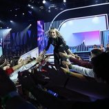 María cruzando la pasarela como favorita la Gala 4 de 'OT 2018'