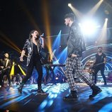 Sabela y Carlos Right en su cañera actuación de la Gala 4 de 'OT 2018'