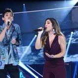 Julia y Dave en su dúo de la Gala 4 de 'OT 2018'