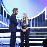 Roberto Leal junto a María en la Gala 4 de 'OT 2018'