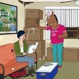 Diane y BoJack en la quinta temporada de 'BoJack Horseman'