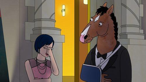 BoJack y Diane elegantes en 'BoJack Horseman'