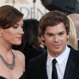 Jennifer Carpenter y Michael C. Hall en los Globos de Oro de 2009