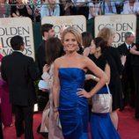 Jennifer Morrison con un vestido azul