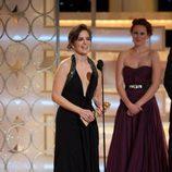 Tina Fey con su Globo de Oro por '30 Rock'