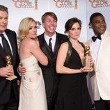 El reparto de '30 Rock' en los Globos de Oro 2009