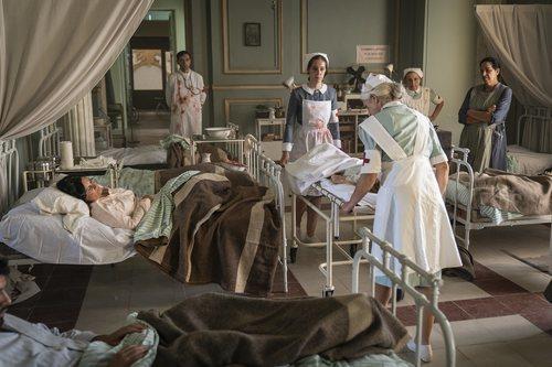 Una sala del hospital de campaña del capítulo 2x05 de 'Estoy vivo'