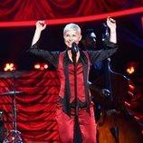 Soraya Arnelas imita a Annie Lennox en la gala 4 de 'Tu cara me suena'