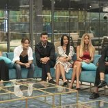 Techi, Mónica Hoyos, Suso, Aurah Ruiz, Makoke y Asraf en la gala 6 de 'GH VIP 6'