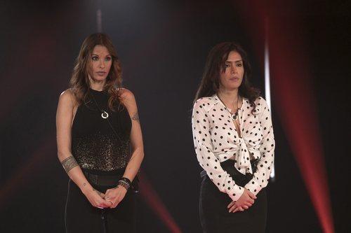 Techi y Miriam Saavedra en la sala de expulsión en la gala 6 de 'GH VIP 6'