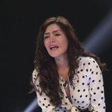 Miriam Saavedra llorando en la sala de expulsión en la gala 6 de 'GH VIP 6'
