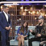 Omar Montes junto a Chabelita Pantoja en el plató de 'GH VIP 6' en la gala 6