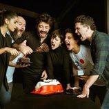 Los actores de 'La Casa de Papel' celebrando el segundo aniversario del atraco