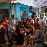 El equipo de 'Promesas de arena' grabando en Túnez