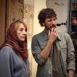 Blanca Portillo y Daniel Grao rodando 'Promesas de arena' en Túnez