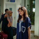 Andrea Duro rodando 'Promesas de arena' en Túnez