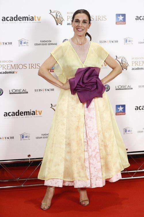 Raquel Sánchez Silva posa en los Premios Iris 2018
