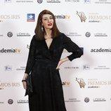 Natalia Ferviú posa en los Premios Iris 2018