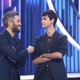 Roberto Leal con Dave tras ser expulsado en la Gala 5 de 'OT 2018'