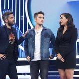 Roberto Leal consuela a Marta y Damion en la Gala 5 de 'OT 2018'