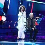 Anabel Alonso es Rocío Jurado en la gala 5 de 'Tu cara me suena' junto a Santiago Segura