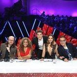 Manel Fuentes junto al jurado de 'Tu cara me suena' en la gala 5