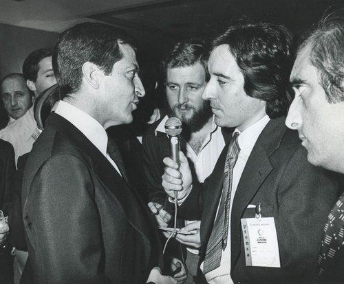 Iñaki Gabilondo entrevista a Adolfo Suárez, imagen de archivo para 'Imprescindibles'