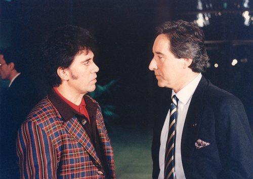 Iñaki Gabilondo y Pedro Almodóvar, imagen de archivo para 'Imprescindibles'