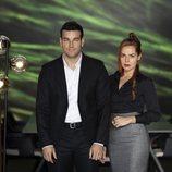 Mario Casas y Miryam Gallego en la presentación de 'Instinto'