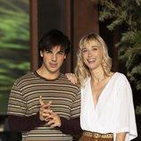 Óscar Casas e Ingrid García Jonsson en la presentación de 'Instinto'
