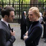Charlie Cox y Deborah Ann Woll en la tercera temporada de 'Daredevil'