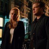 Elden Henson y Deborah Ann Woll en la tercera temporada de 'Daredevil'