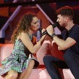 Marilia y Carlos Right en su actuación de la Gala 6 de 'OT 2018'