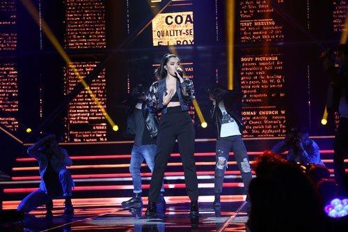 Marta Sango en su actuación de la Gala 6 de 'OT 2018'