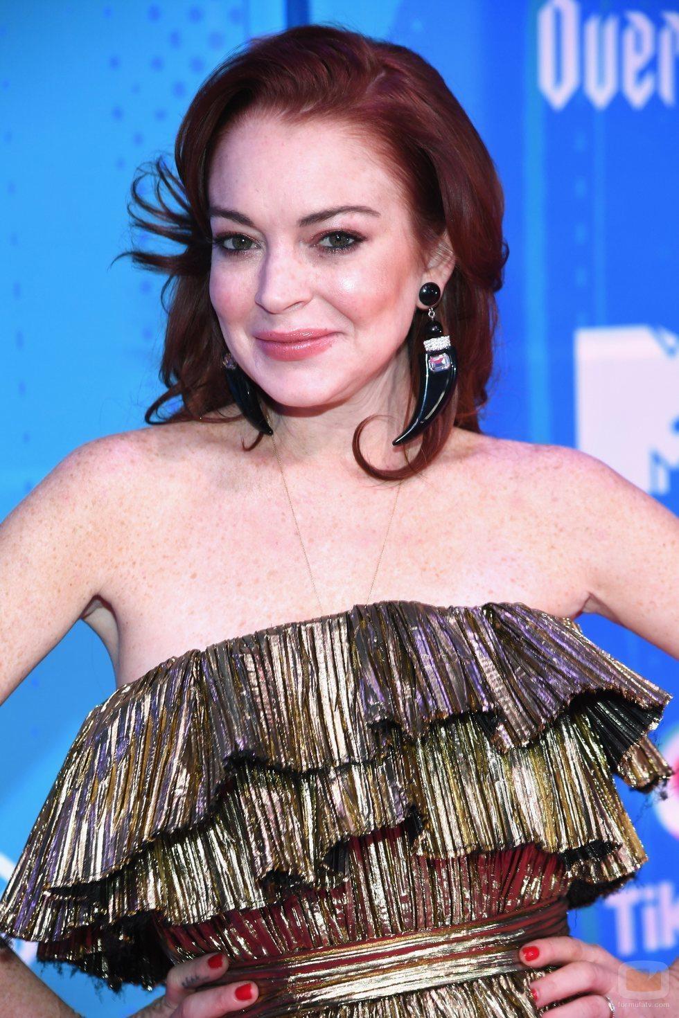Lindsay Lohan en los EMAs 2018