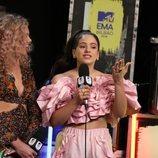 Rosalía, entrevistada durante los EMAs 2018