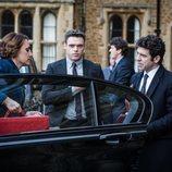 Keeley Hawes, Richard Madden y Paul Ready en 'Bodyguard'