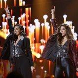 Julia y Marta en su actuación de la Gala 7 de 'OT 2018'