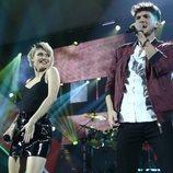 Alba Reche y Carlos Right en su actuación de la Gala 7 de 'OT 2018'